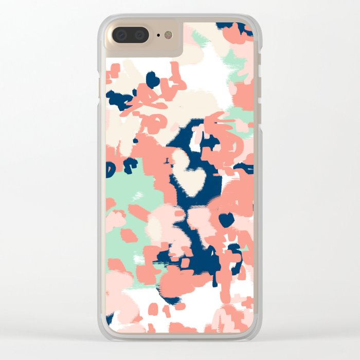 Kiela - abstract painting pattern minimal basic nursery decor home trends colorful art Clear iPhone Case