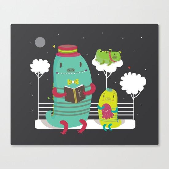 Dino family Canvas Print