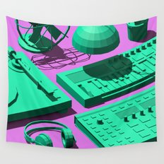 Low Poly Studio Objects 3D Illustration Wall Tapestry