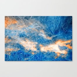 Burning Ice Clouds Canvas Print