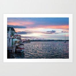Panama Sunset Art Print