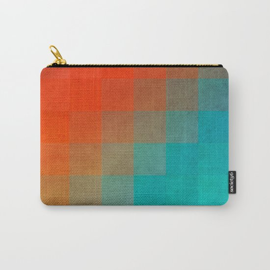 Beach Pixel Surface Carry-All Pouch