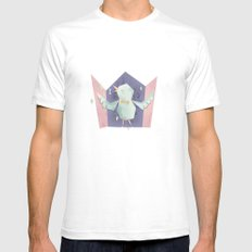 Singing bird Mens Fitted Tee White SMALL