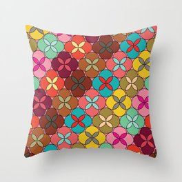 Geometric Flowers #1 Throw Pillow
