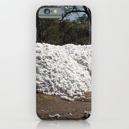Heap of Freshly Harvested Cotton iPhone Case