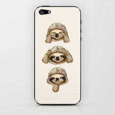 No Evil Sloth iPhone & iPod Skin