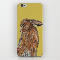 hare iPhone & iPod Skins featuring Hare by Louisa Heseltine
