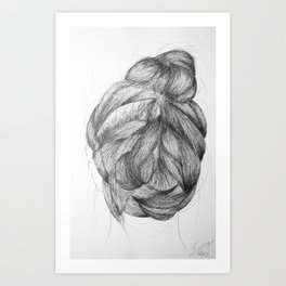 Hair three Art Print