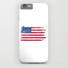 Pennsylvania State Map American Flag Vintage iPhone Case