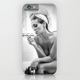 The French Inhale iPhone Case