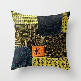 Flodsam 4 Throw Pillow