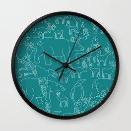 Global warming and animal migration 05 Wall Clock