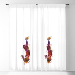 american football player catching ball  silhouette Blackout Curtain