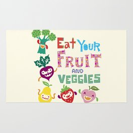 Eat your Fruit and Veggies Rug