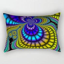 Color Phobia Fractal Rectangular Pillow