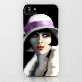 Girl's Twenties Vintage Glamour Portrait iPhone Case