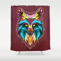 animals Shower Curtains featuring animals by mark ashkenazi