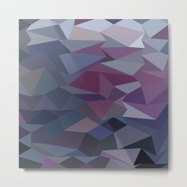 Purple Abstract Low Polygon Background Metal Print