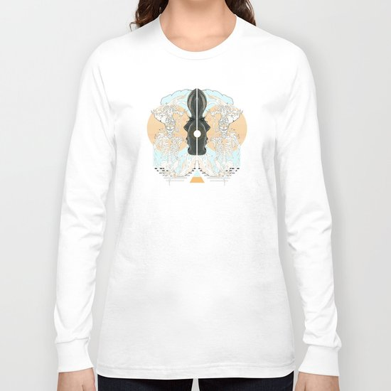 el centro pastel Long Sleeve T-shirt