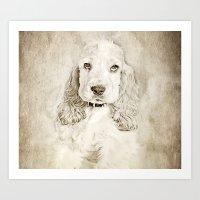 lucas david Art Prints featuring Lucas by khdesign