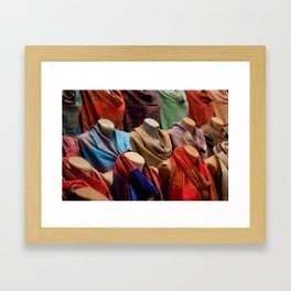 Pashmina Shawls Framed Art Print