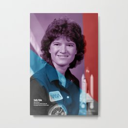 Women of NASA: Sally Ride Metal Print