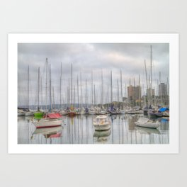 On a cloudy morning Art Print