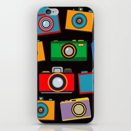 colourful cameras iPhone Skin