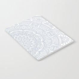 Light Gray Ethnic Eclectic Detailed Mandala Minimal Minimalistic Notebook