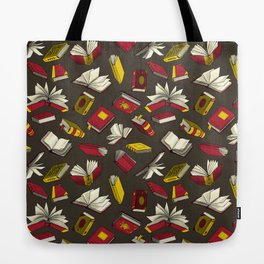 Spellbooks, maroon Tote Bag