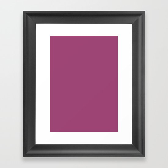 Magenta haze Framed Art Print