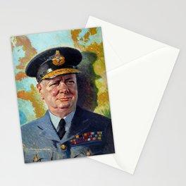 Winston Churchill In Uniform Stationery Cards