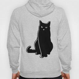 Cat Black Silhouette Pet Animal Cool Style Hoody