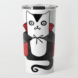 Vampire Cat – Dracula suit Travel Mug