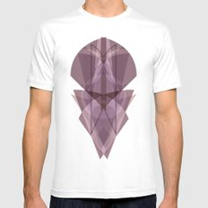 Glass MEDIUM White Mens Fitted Tee