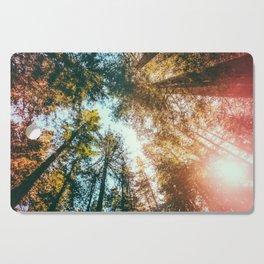 California Redwoods Sun-rays and Sky Cutting Board