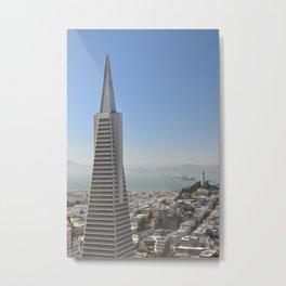 TransAmerica Building, Coit Tower and Alcatraz Metal Print
