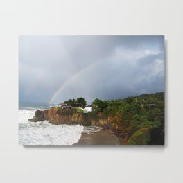 Rainbow in Mendocino County Metal Print