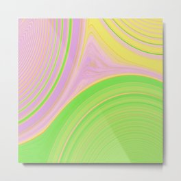 Abstract Creation by Robert S. Lee Metal Print