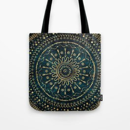 Geometric tribal gold mandala Tote Bag