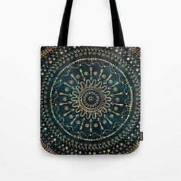 Geometric tribal gold mandala Tote Bag