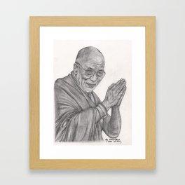 Dalai Lama Tenzin Gyatso Drawing Framed Art Print