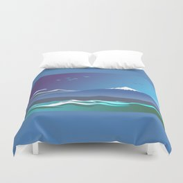 Mont Taranaki From The Sea Duvet Cover
