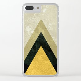 Mid Century Mountain I Clear iPhone Case