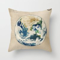 earth Throw Pillows featuring Earth by Heather Landis
