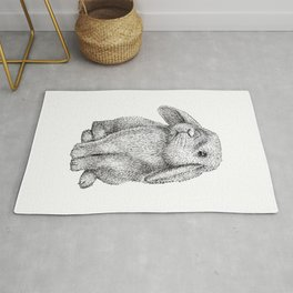 Womens Lop Eared Bunny Rabbit Cute  Rug