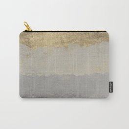 Geometrical ombre glacier gray gold watercolor Carry-All Pouch