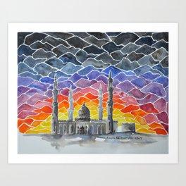 Sheikh Zayed Mosque, Ras Al Khaimah, UAE Art Print