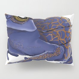 Psychedelic Blue Frog Pillow Sham