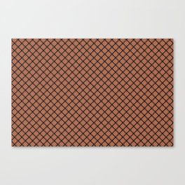 Black Scroll Grid Pattern on Sherwin Williams Canyon Clay Canvas Print